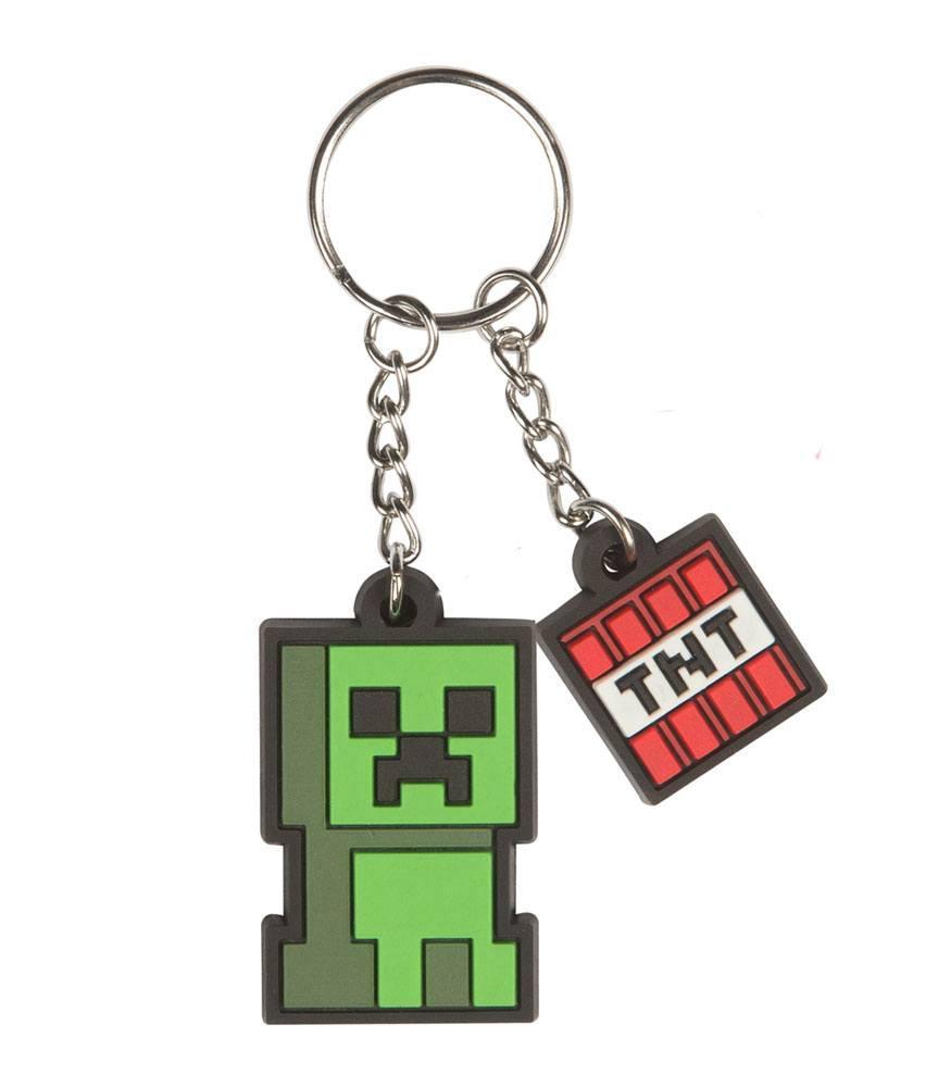 MINECRAFT - Creeper Sprite Rubber Keychain