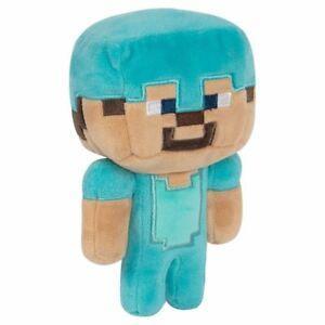 MINECRAFT - Peluche Happy Explorer - Diamond Steve - 18cm