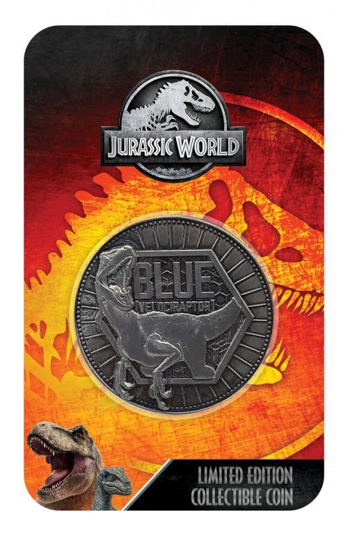 JURASSIC WORLD - Velociraptor - Pièce de collection édition limitée