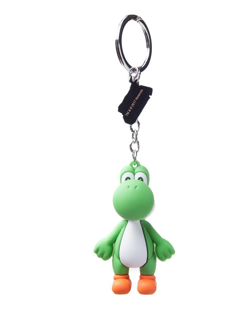 NINTENDO - Rubber 3D Keychain - Yoshi's