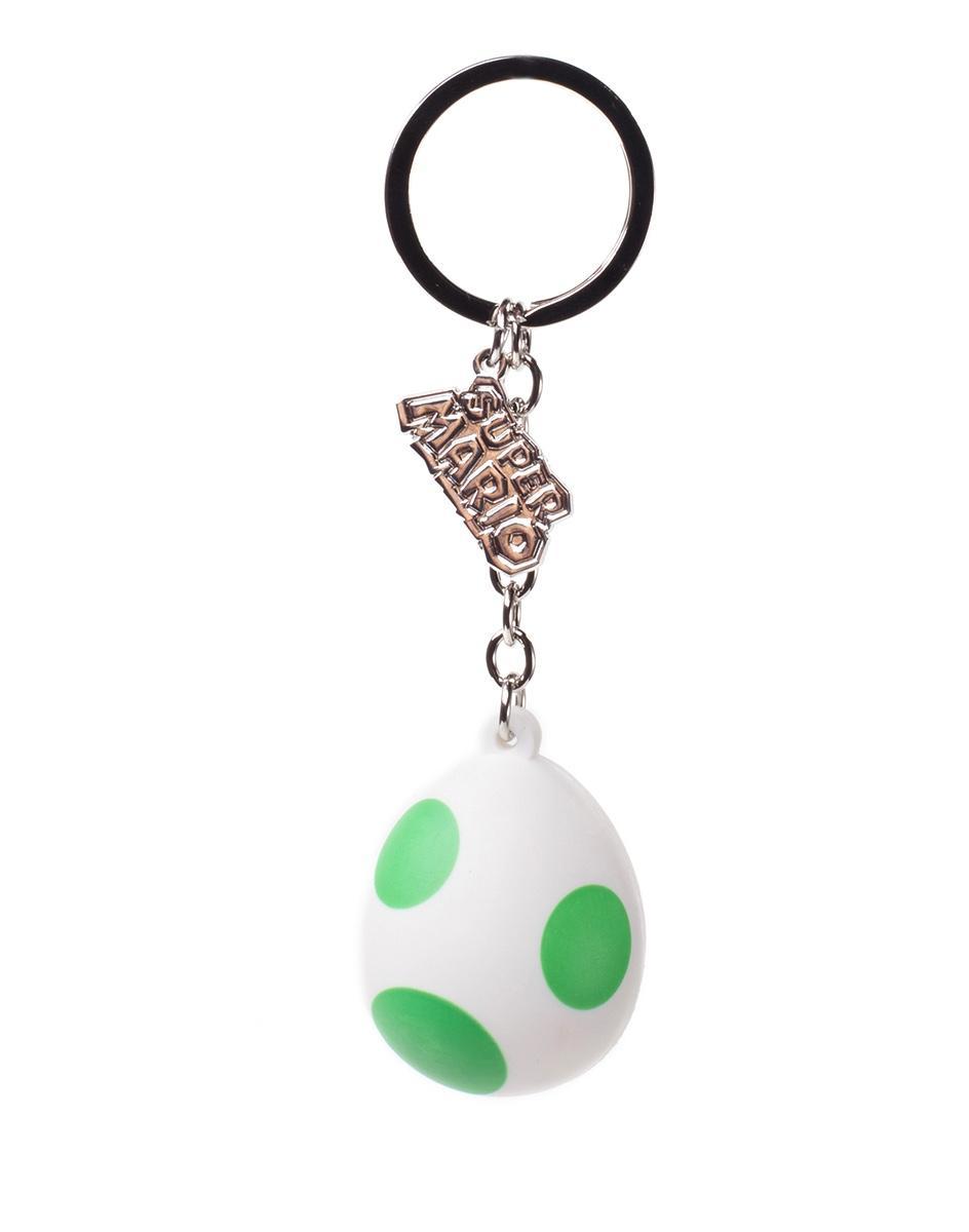 NINTENDO - Rubber 3D Keychain - Yoshi's Egg