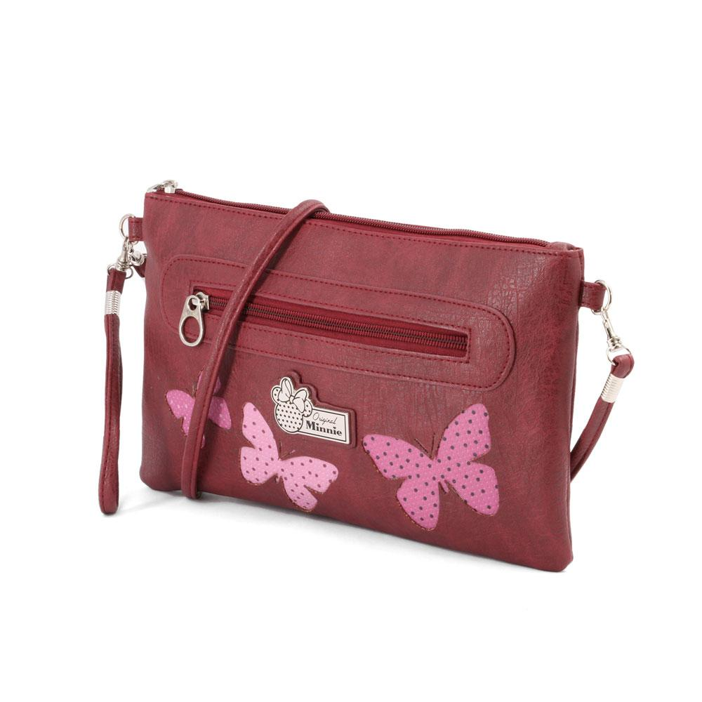 DISNEY - MINNIE Sac Walk Pocket Marfly - Bordeaux