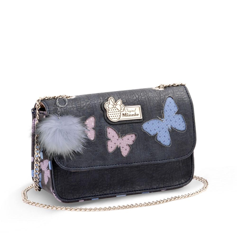 DISNEY - MINNIE Sac à Main Satchel Chaîne Blufy - Bleu