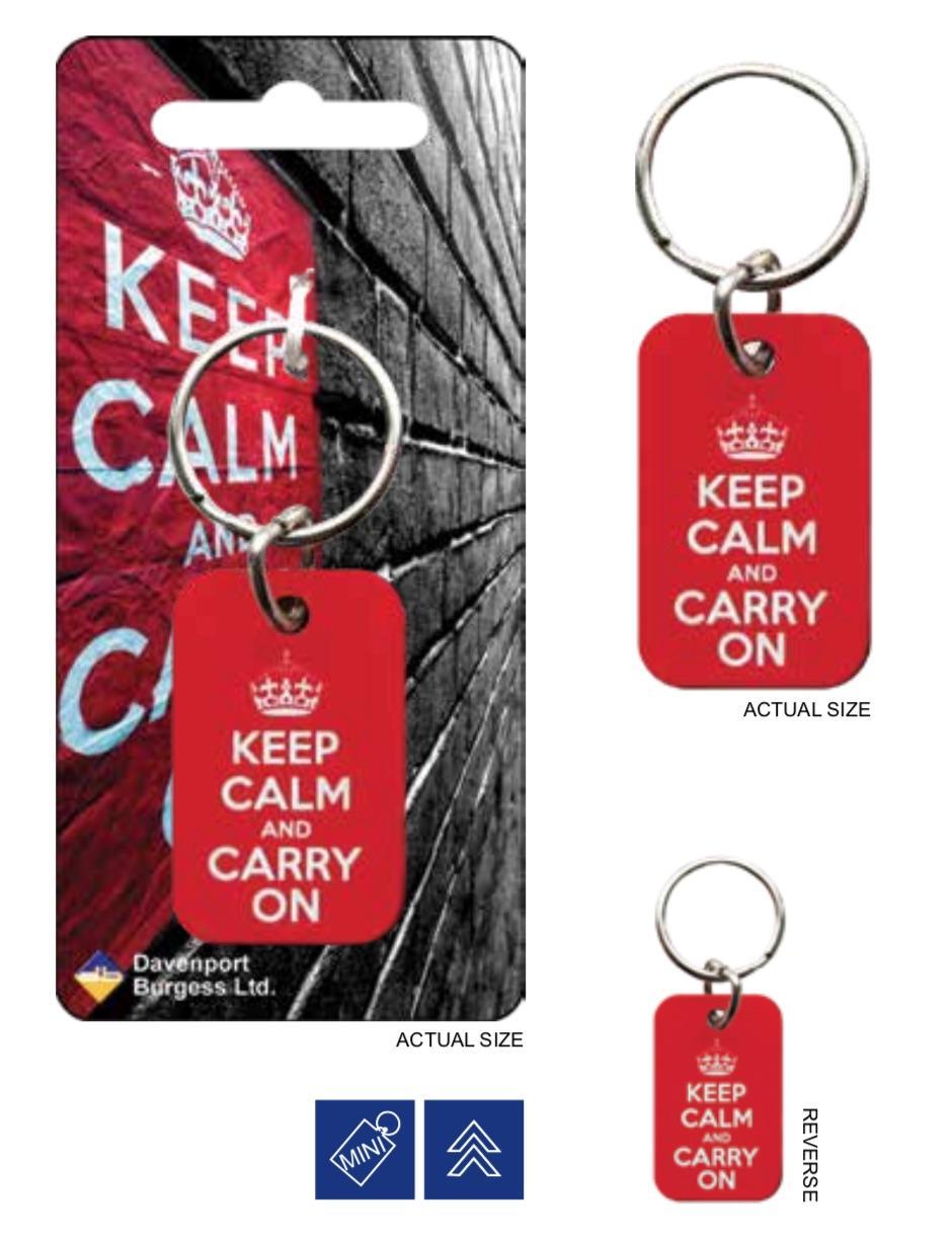 KEEP CALM - Porte-Cles Metal - Red