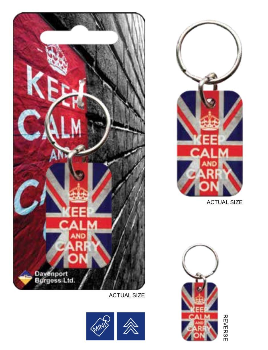 KEEP CALM - Porte-Cles Metal - Union Jack