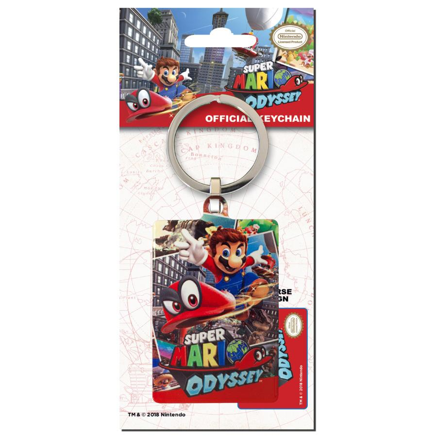 NINTENDO - Porte-Cles Metal - Super Mario Bros Odyssey