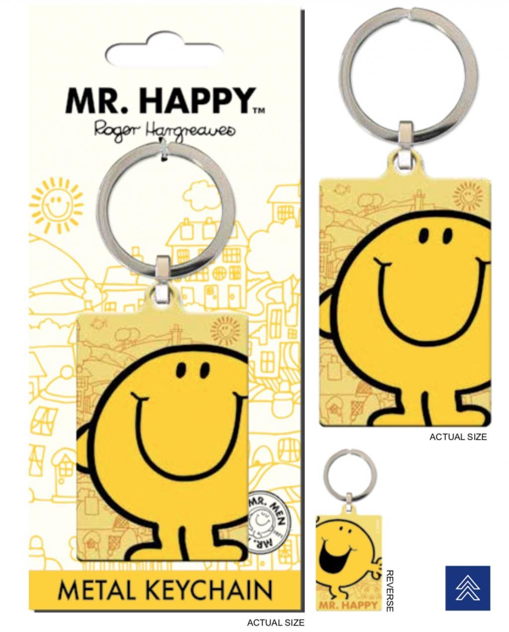 MR. MEN LITTLE MISS - Porte-Cles Metal - Mr. Happy
