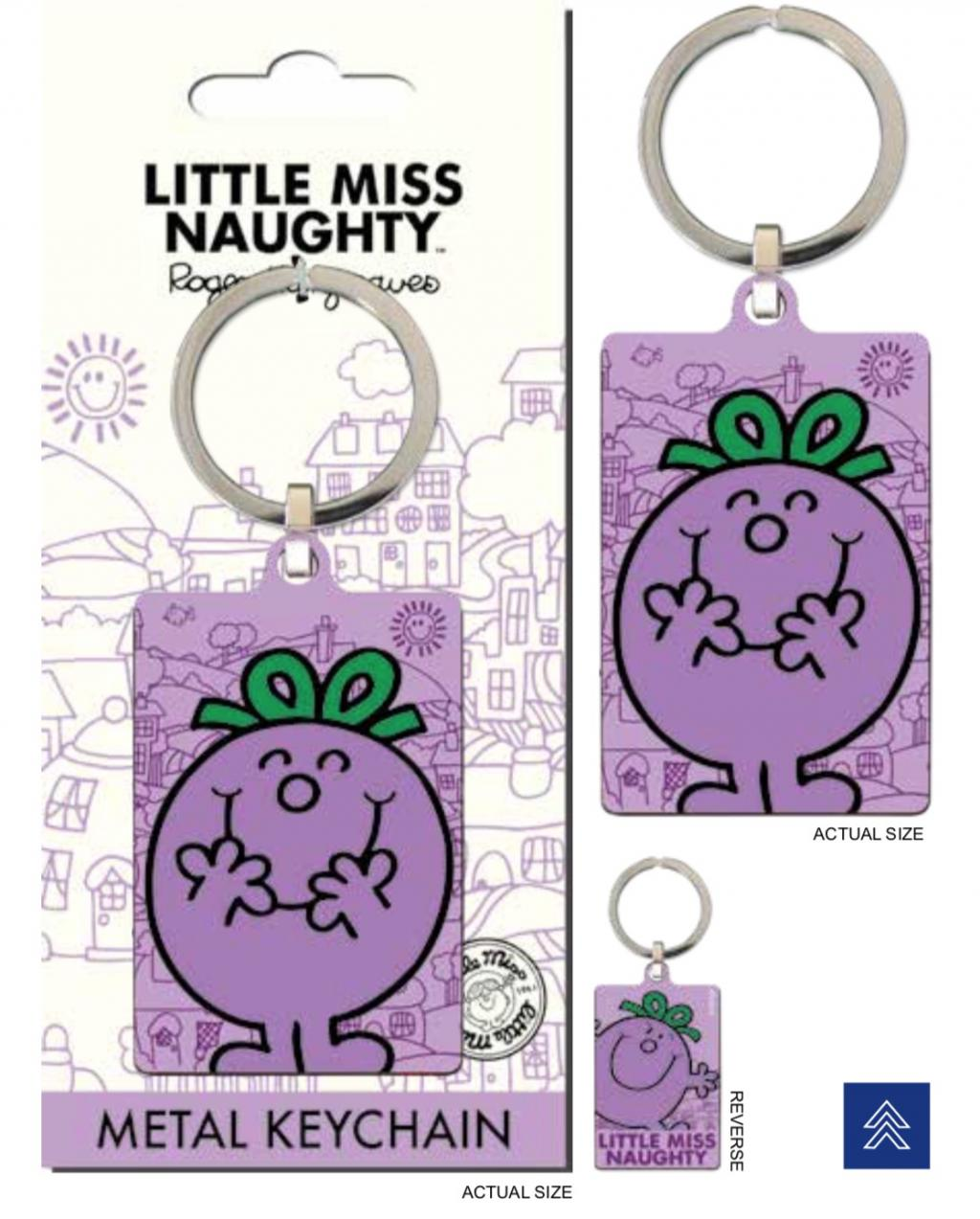 MR. MEN LITTLE MISS - Porte-Cles Metal - Little Miss Naughty