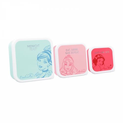 DISNEY - Set de 3 boîtes pour lunch - Princess