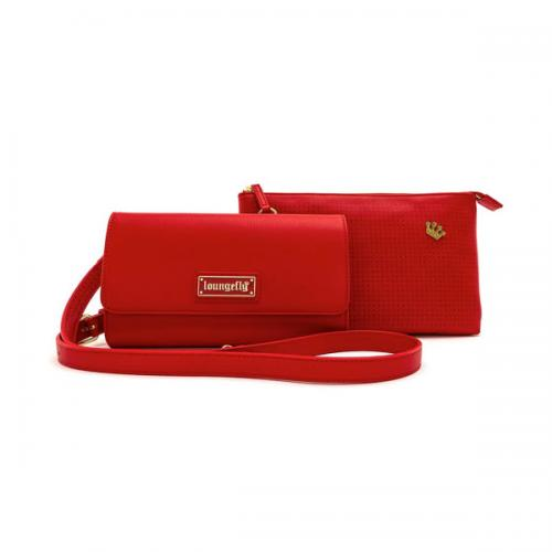 LOUNGEFLY - Red Pin Trader - Sac bandoulière 'LoungeFly'