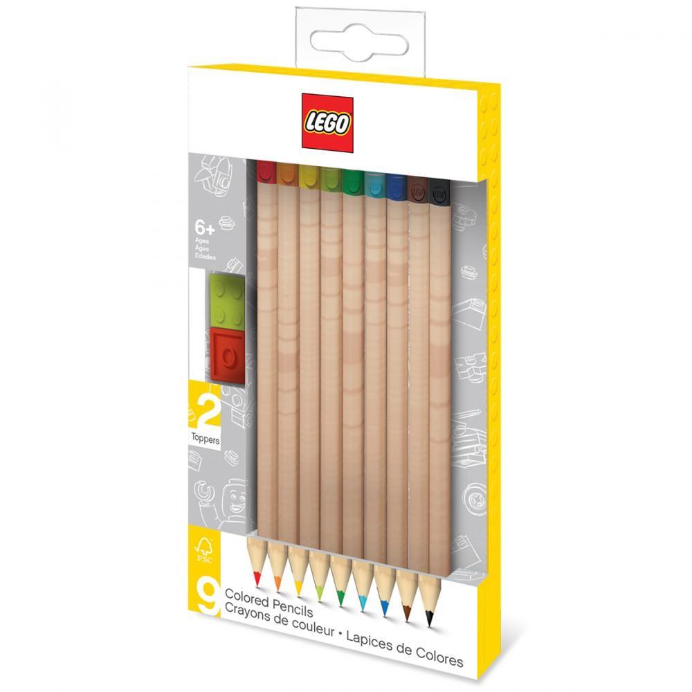 LEGO - Crayons de Couleurs Bricks - Pack 9 pcs