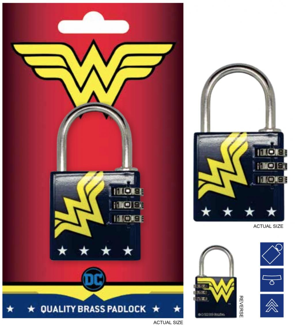 DC COMICS - Cadenas avec code - Wonder Woman
