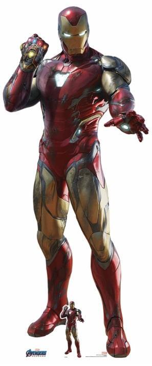 AVENGERS - Lifesize Cutout - Iron Man Infinity Gauntlet - 191cm