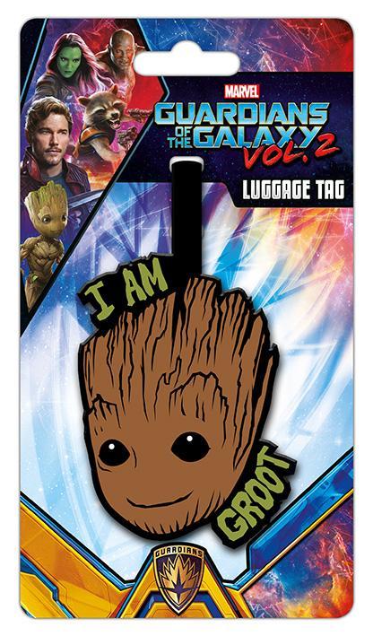 GARDIENS DE LA GALAXIE - I am Groot - Etiquette de bagage '10x18'