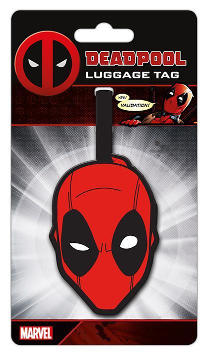 DEADPOOL - Face - Etiquette de bagage '10x18'