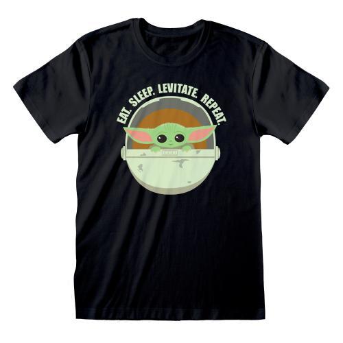 MANDALORIAN - T-Shirt homme - The Child Eat Sleep Levitate - (M)