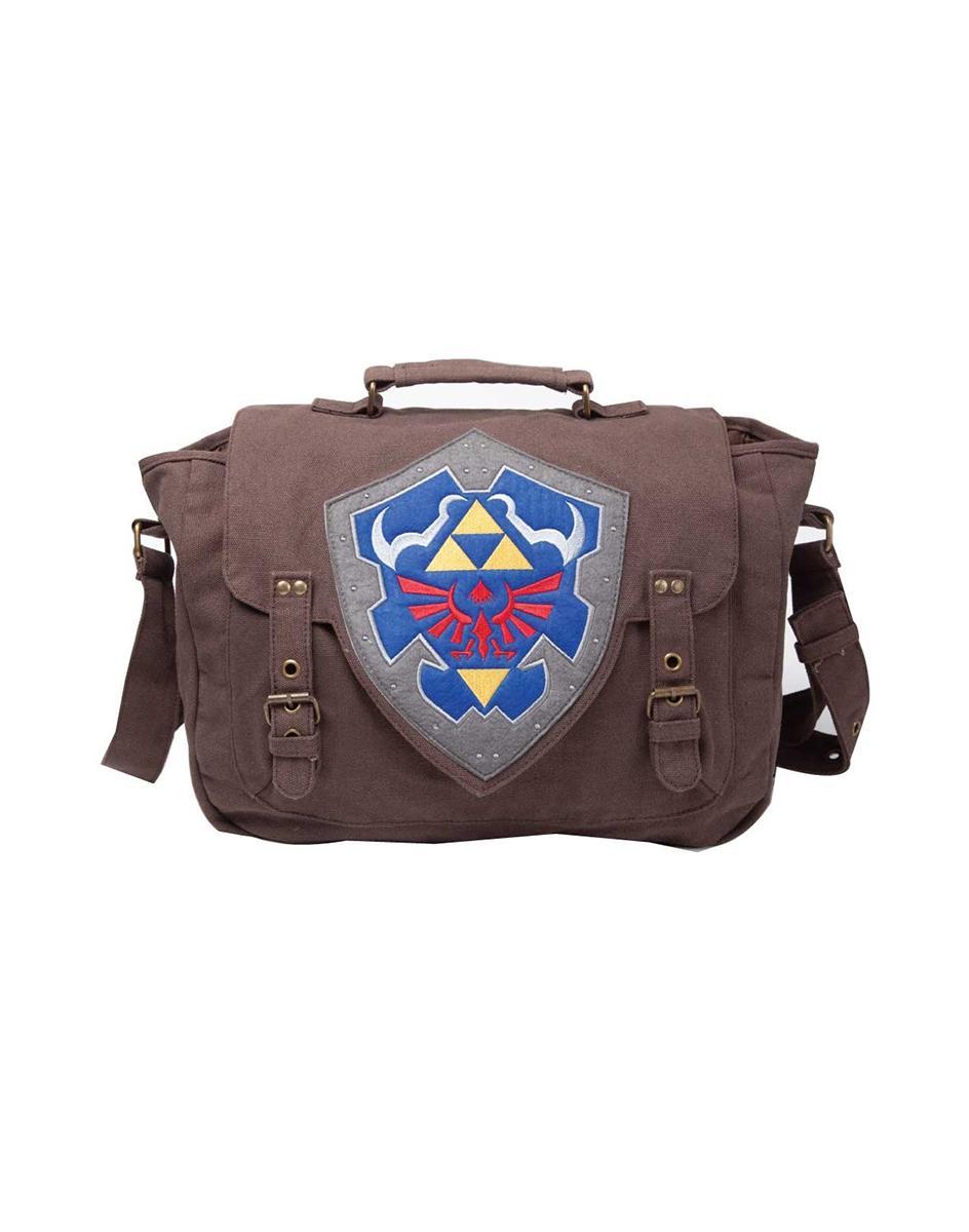 ZELDA - Brown Link Shield Messenger Bag