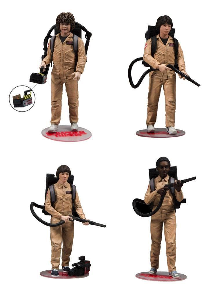 STRANGER THINGS - Pack 4 Figurines Ghostbusters - 15cm