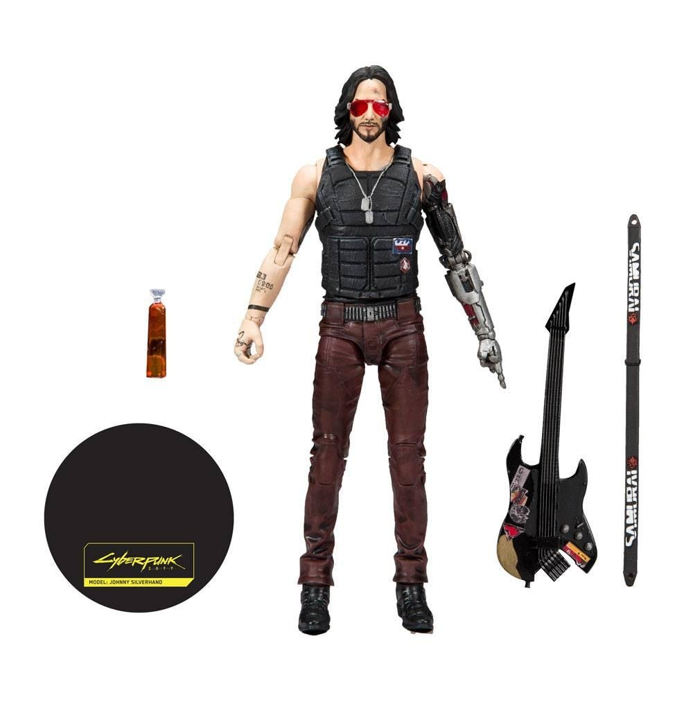 CYBERPUNK 2077 - Johnny Silverhands - Figurine articulée 18cm_5