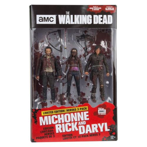 WALKING DEAD - Action Figure - 3 Pack - Michonne Rick & Daryl - 13cm
