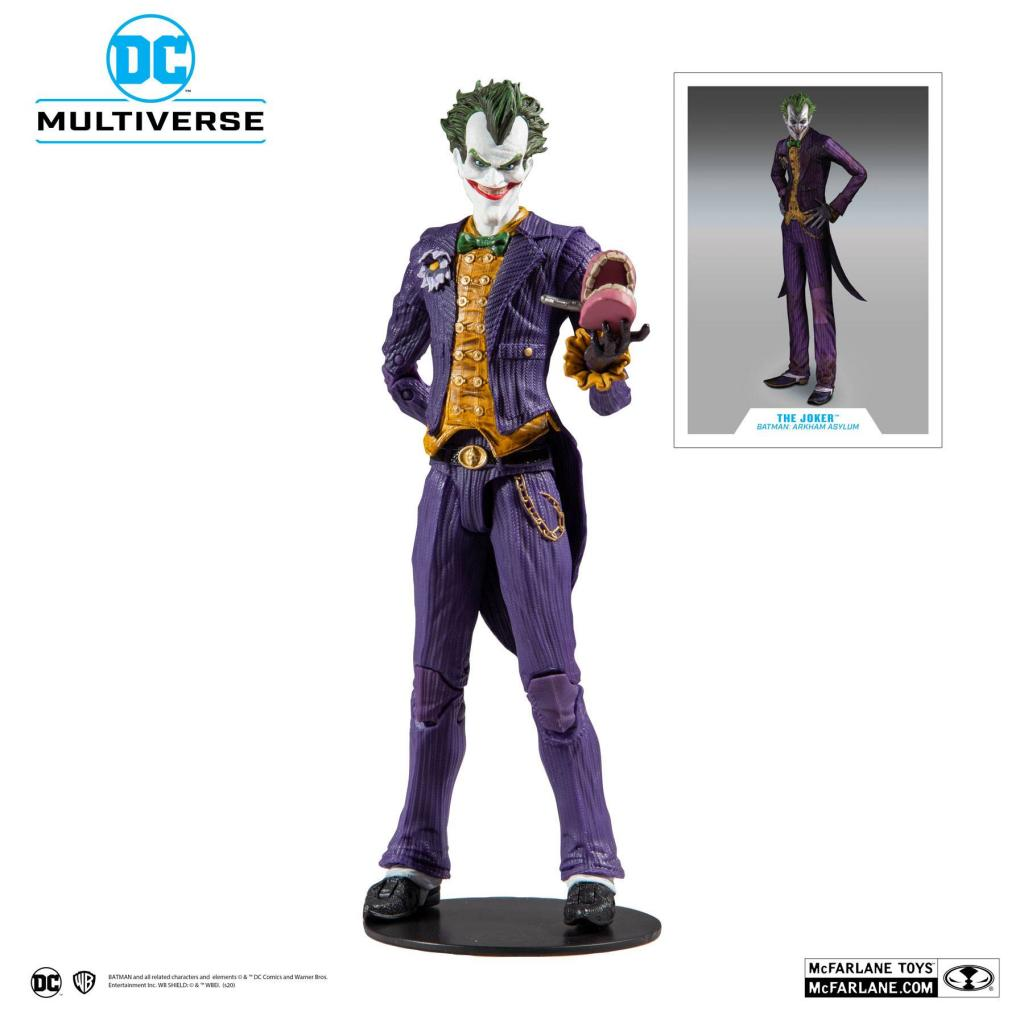 DC COMICS - Batman Arkham Asylum - Joker - Figurine articulée 18cm_1