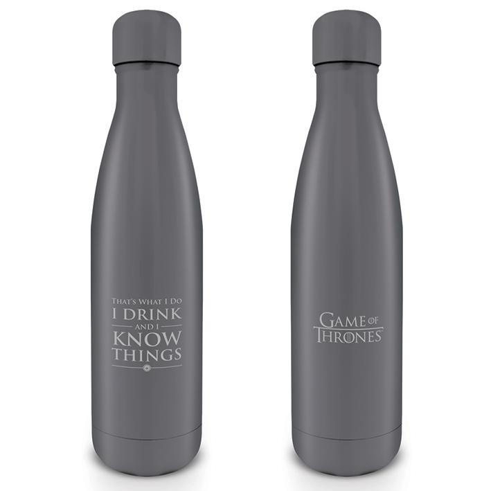 GAME OF THRONES - Gourde Metal 500 ml - I Drink and I Know Things