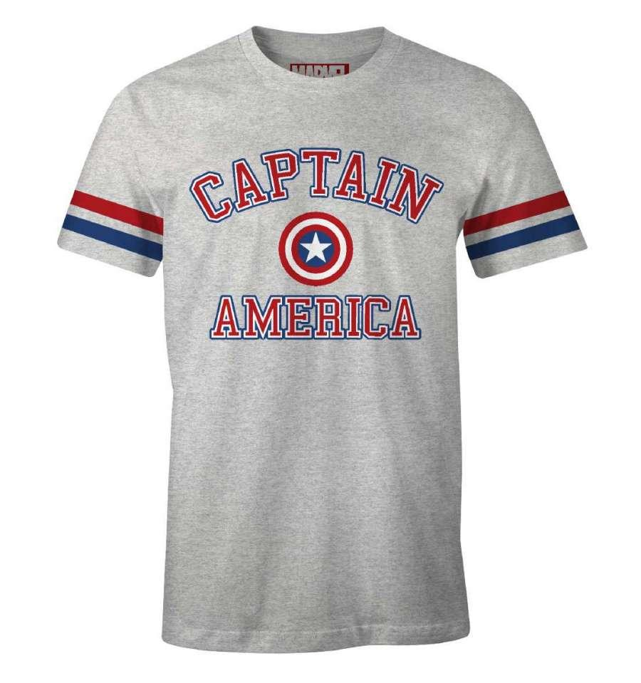 MARVEL - T-Shirt Baseball - Captain America (S)