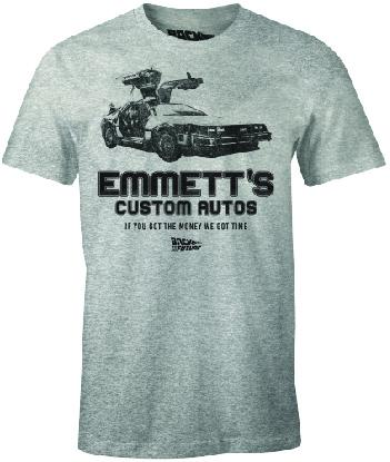 BACK TO THE FUTURE - T-Shirt Emmett's Custom Autos (S)
