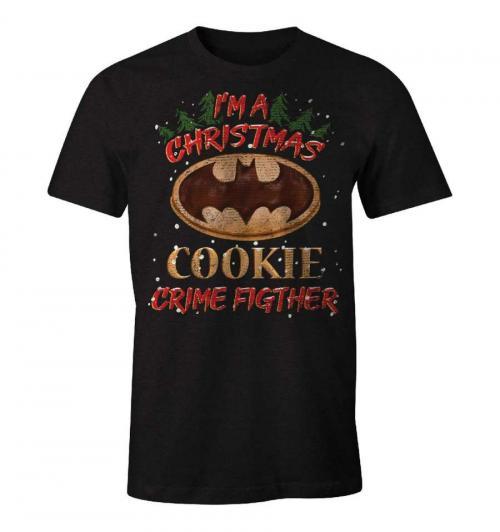 DC COMICS - T-Shirt I'm aChristmas Cookie Crime Fighter - Batman (XXL)