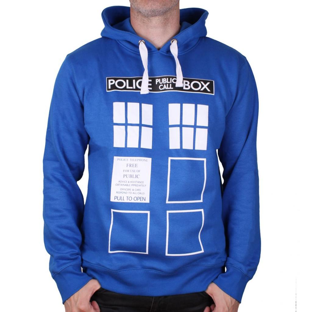 DOCTOR WHO - Sweat Police Box (L)
