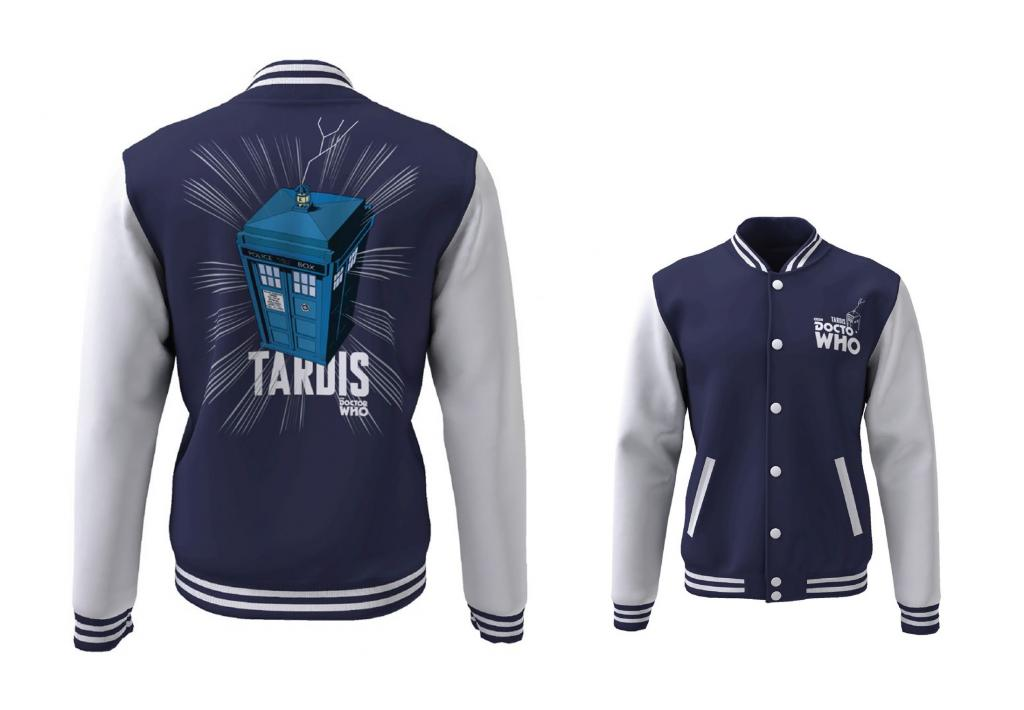 DOCTOR WHO - Blouson Teddy Tardis (S)