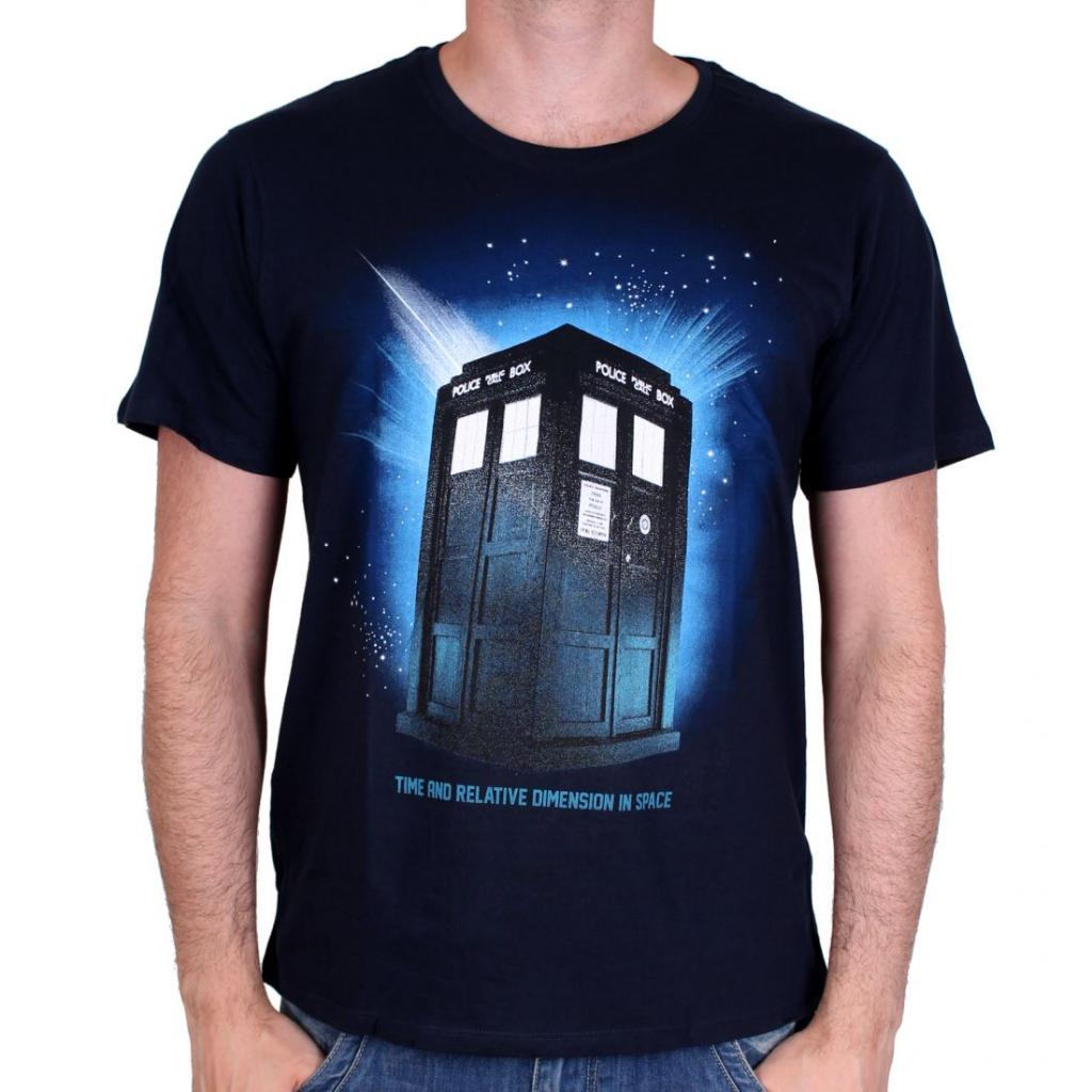 DOCTOR WHO - T-Shirt Tardis in Space (L)
