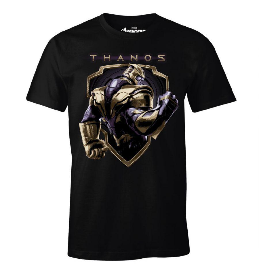 AVENGERS - T-Shirt Thanos Badge (S)