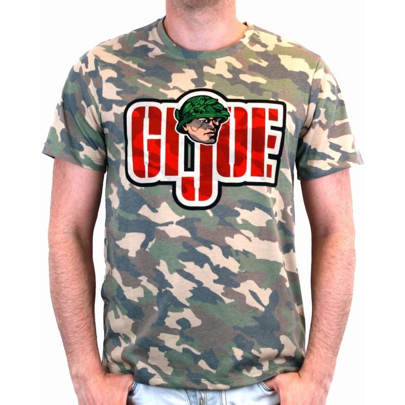 GI JOE - T-Shirt Vintage Logo Camouflage (L)