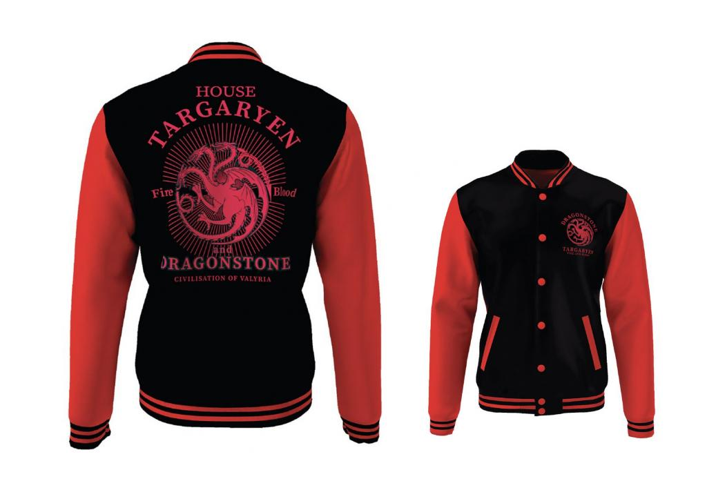 GAME OF THRONES - Blouson Teddy House Targaryen (S)