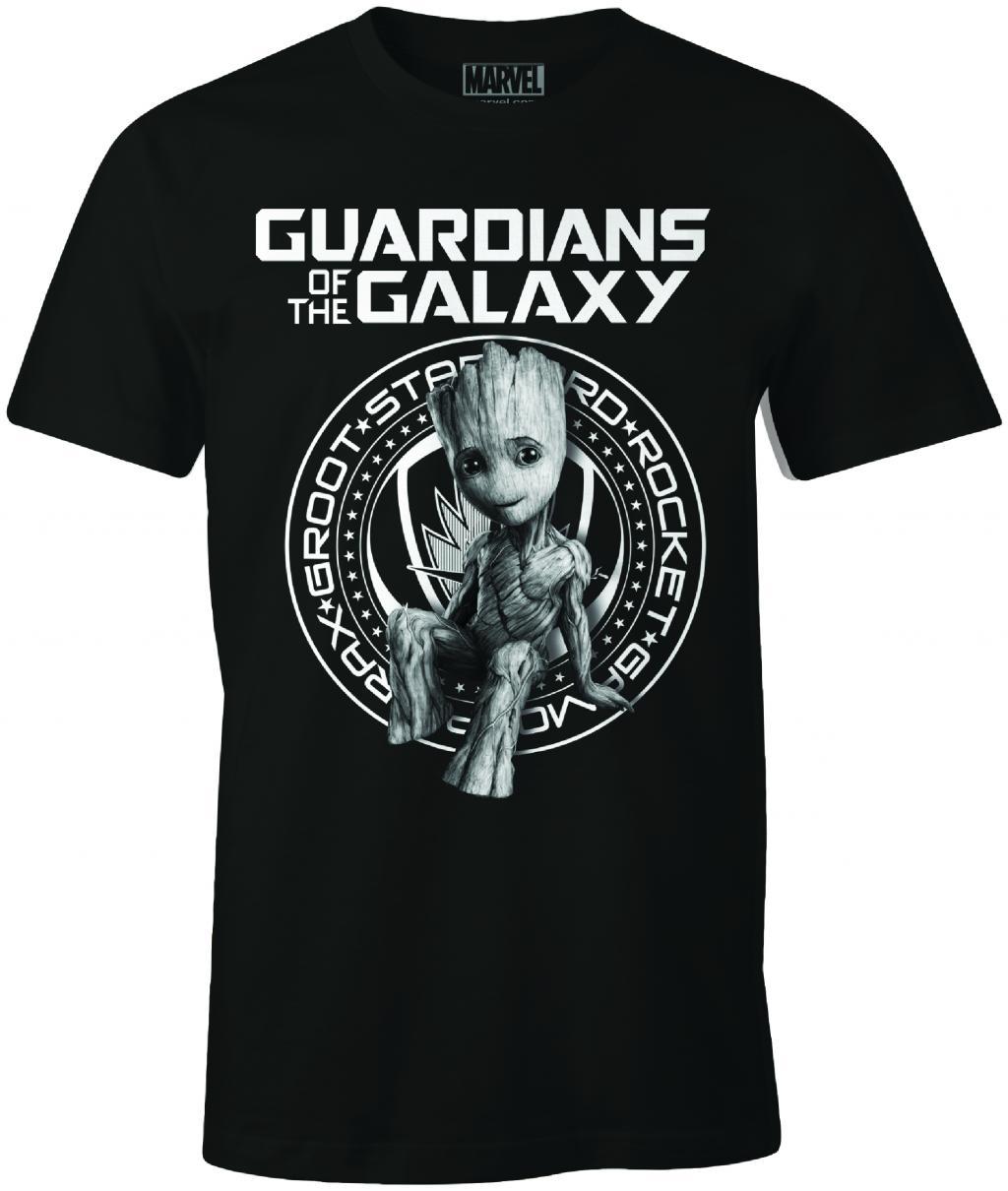 MARVEL - T-Shirt Groot Guardian Badge (S)