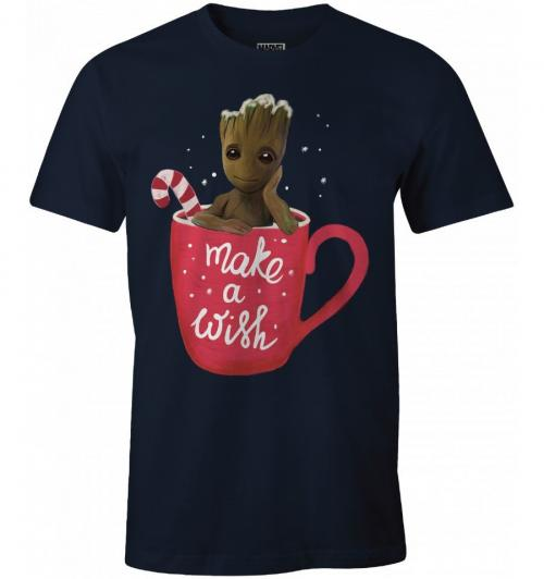 GUARDIANS OF THE GALAXY - T-Shirt Groot - Make a Wish (S)