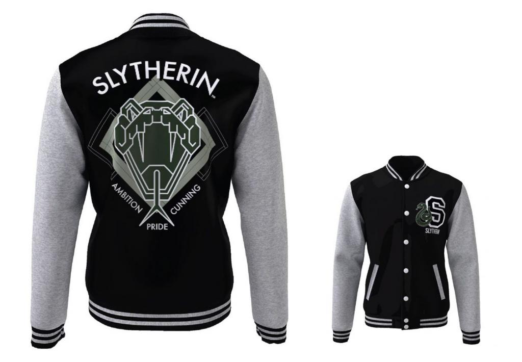 HARRY POTTER - Blouson Teddy Slytherin Blazon (L)