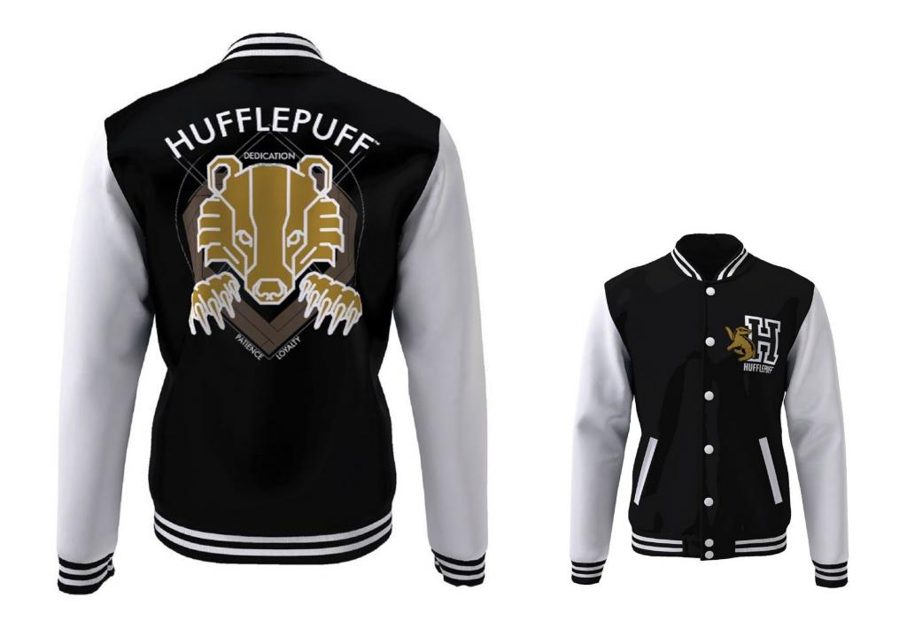 HARRY POTTER - Blouson Teddy Hufflepuff Blazon (M)
