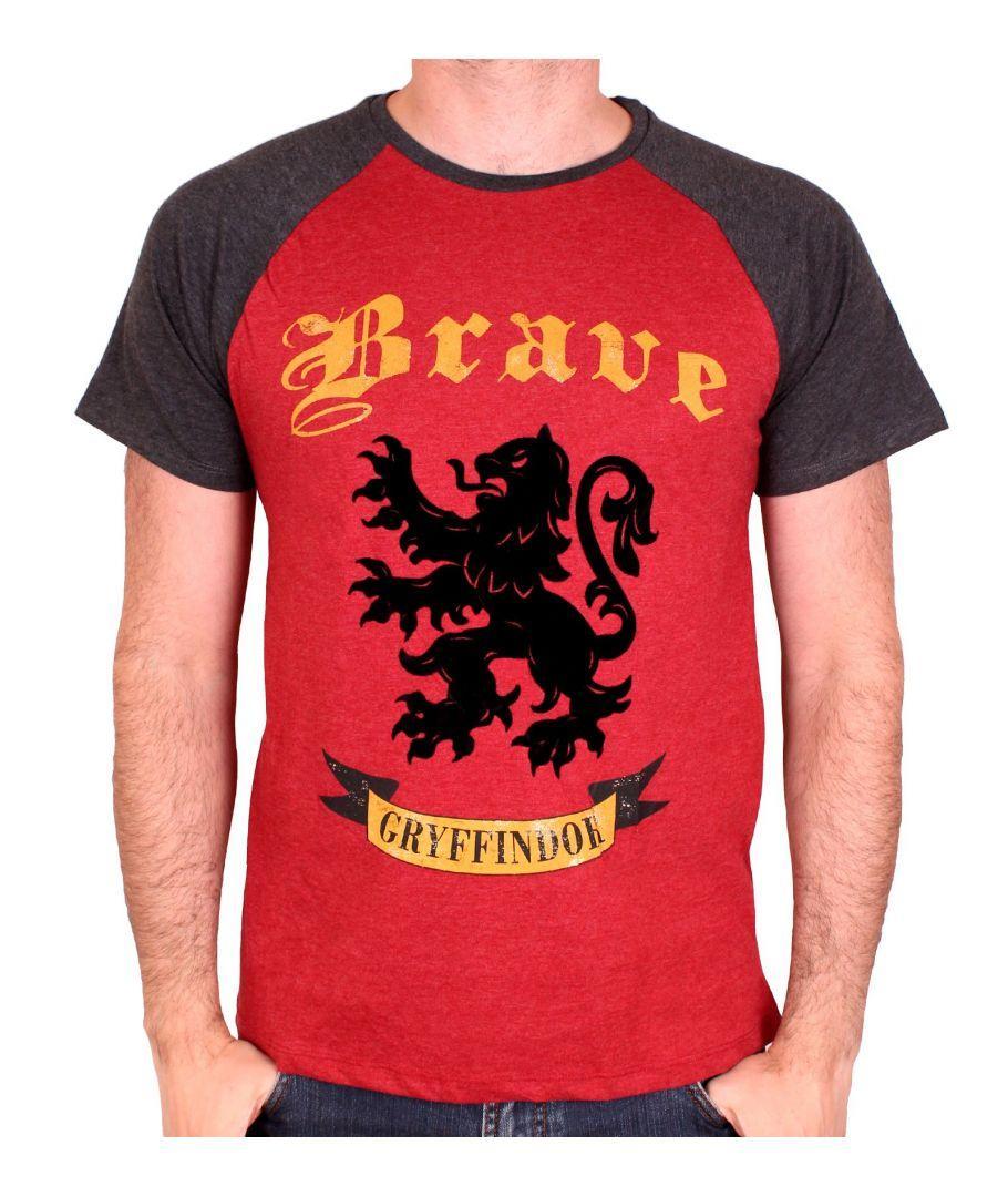 HARRY POTTER - T-Shirt Gryffindo Brave - Red/Black (S)