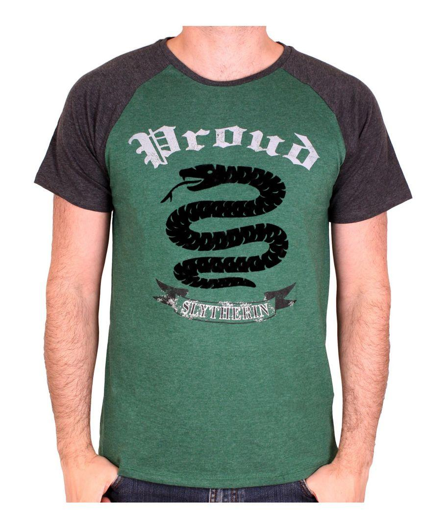 HARRY POTTER - T-Shirt Slytherin Proud - Green/Black (S)