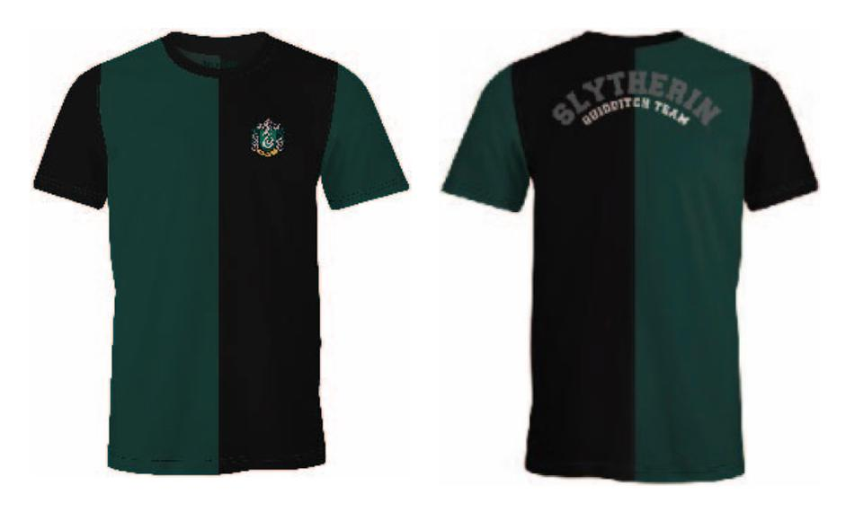 HARRY POTTER - T-Shirt Quidditch Team Slytherin (S)