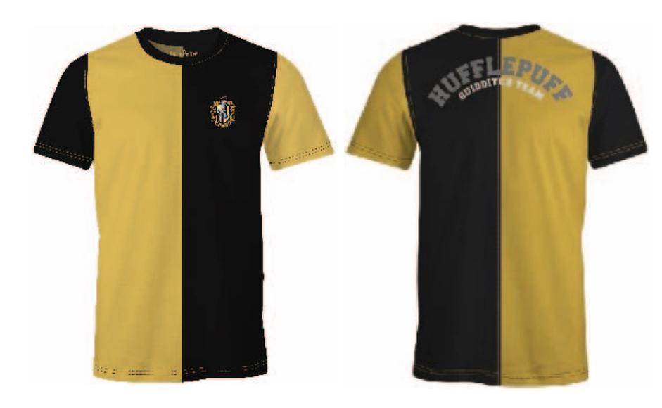 HARRY POTTER - T-Shirt Quidditch Team Hufflepuff (S)