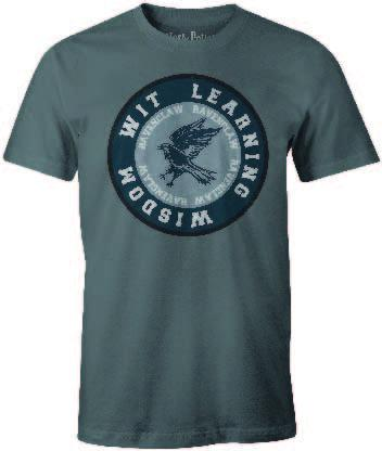 HARRY POTTER - T-Shirt Ravenclaw ROUND Wit Learning Wisdom (S)