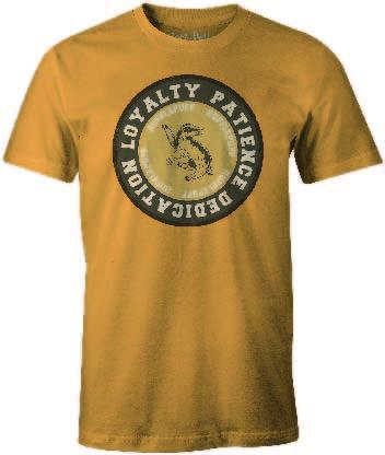 HARRY POTTER - T-Shirt Hufflepuff ROUND Loyalty Patience ... (S)