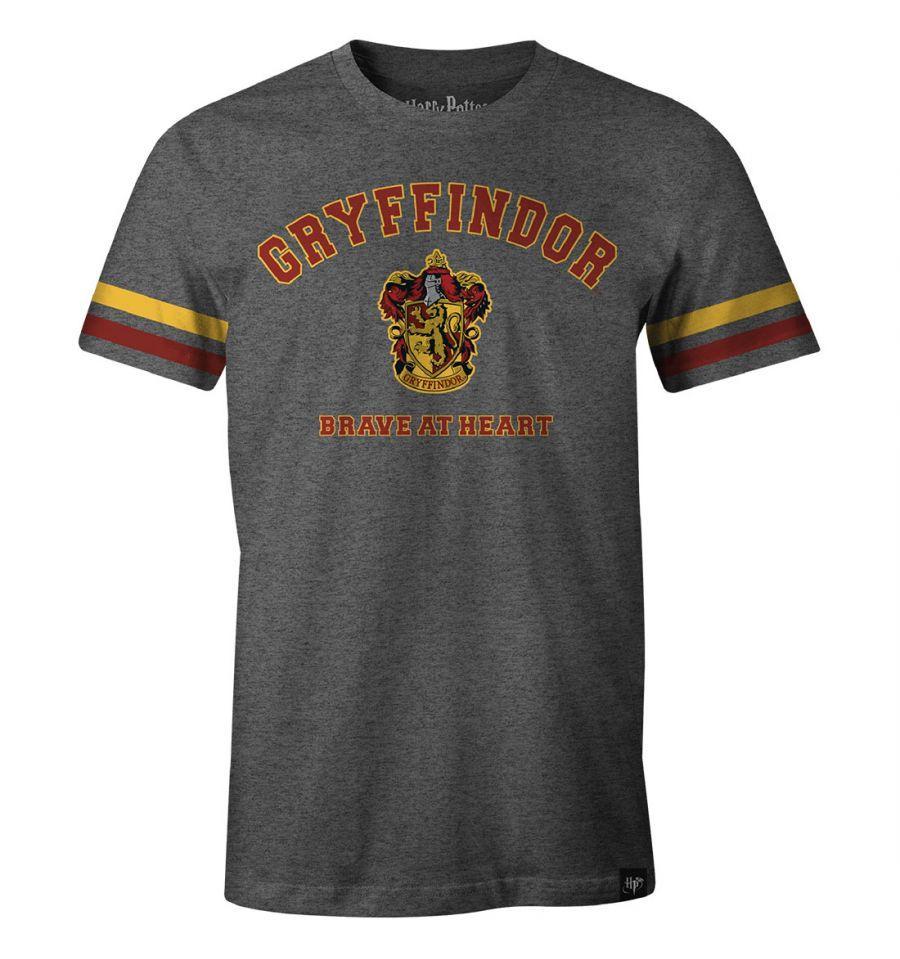 HARRY POTTER - T-Shirt Gryffindor Brave at Heart (S)
