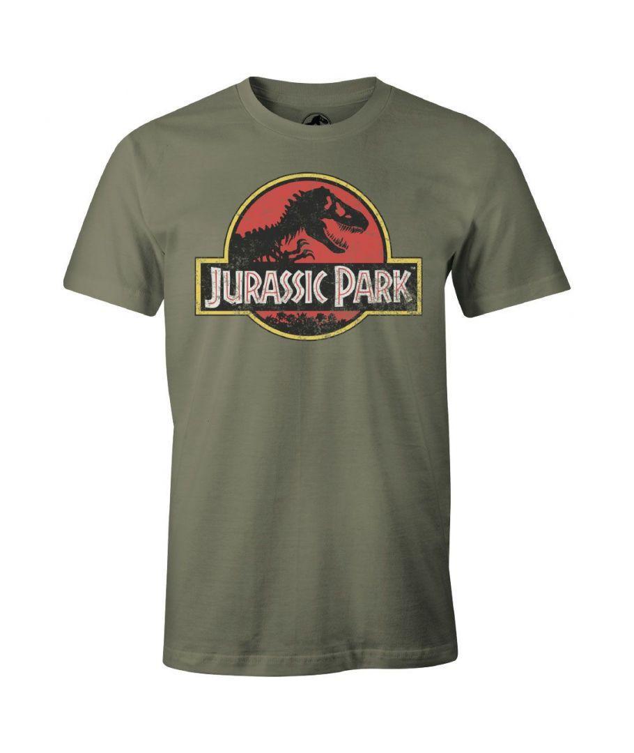JURASSIC PARK - T-Shirt Vintage Logo - KAKI (S)