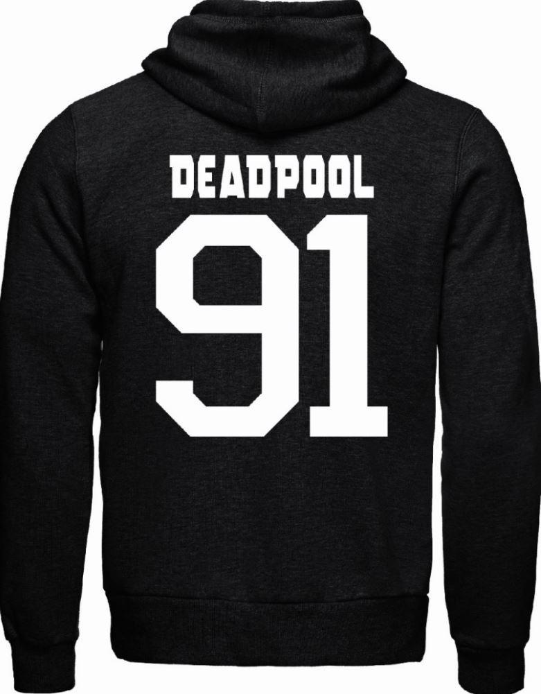 DEADPOOL - MARVEL - Sweat Black/Grey Deadpool 91 (L)