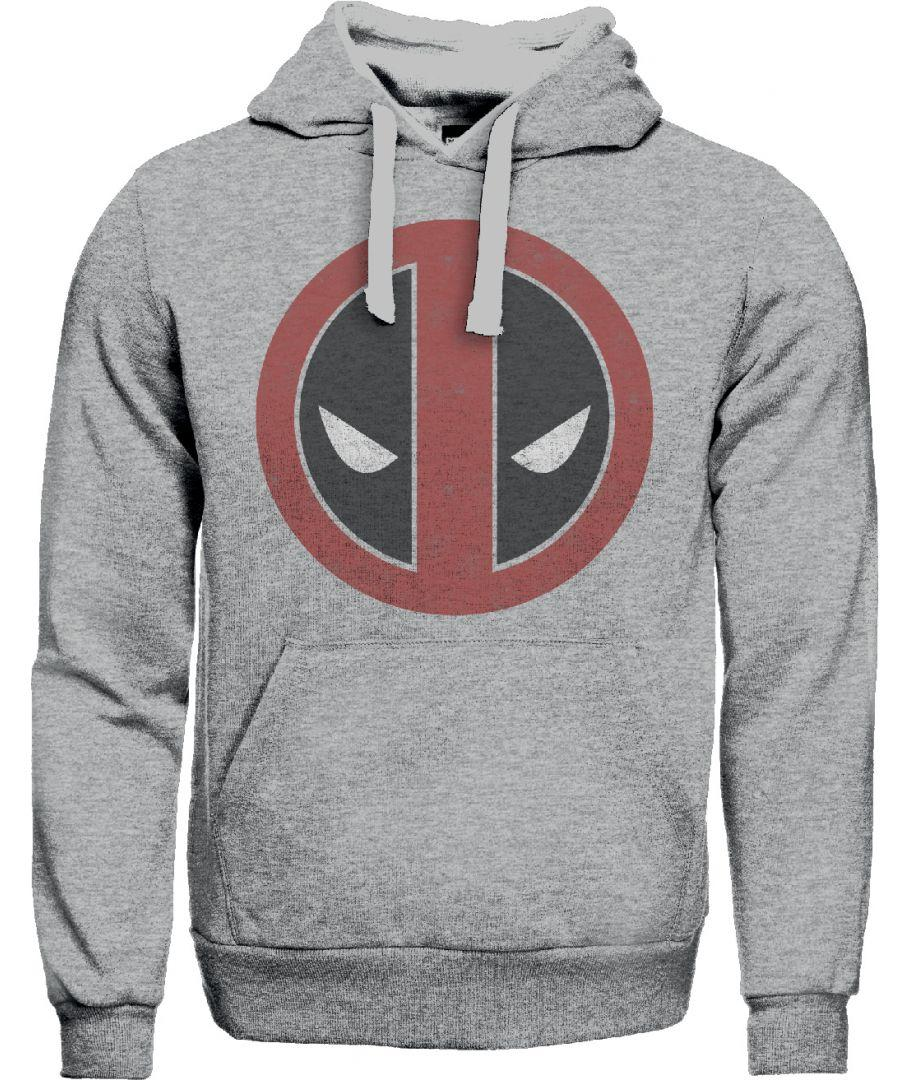 MARVEL - Deadpool - Sweat Distress Logo - Grey (S)_1