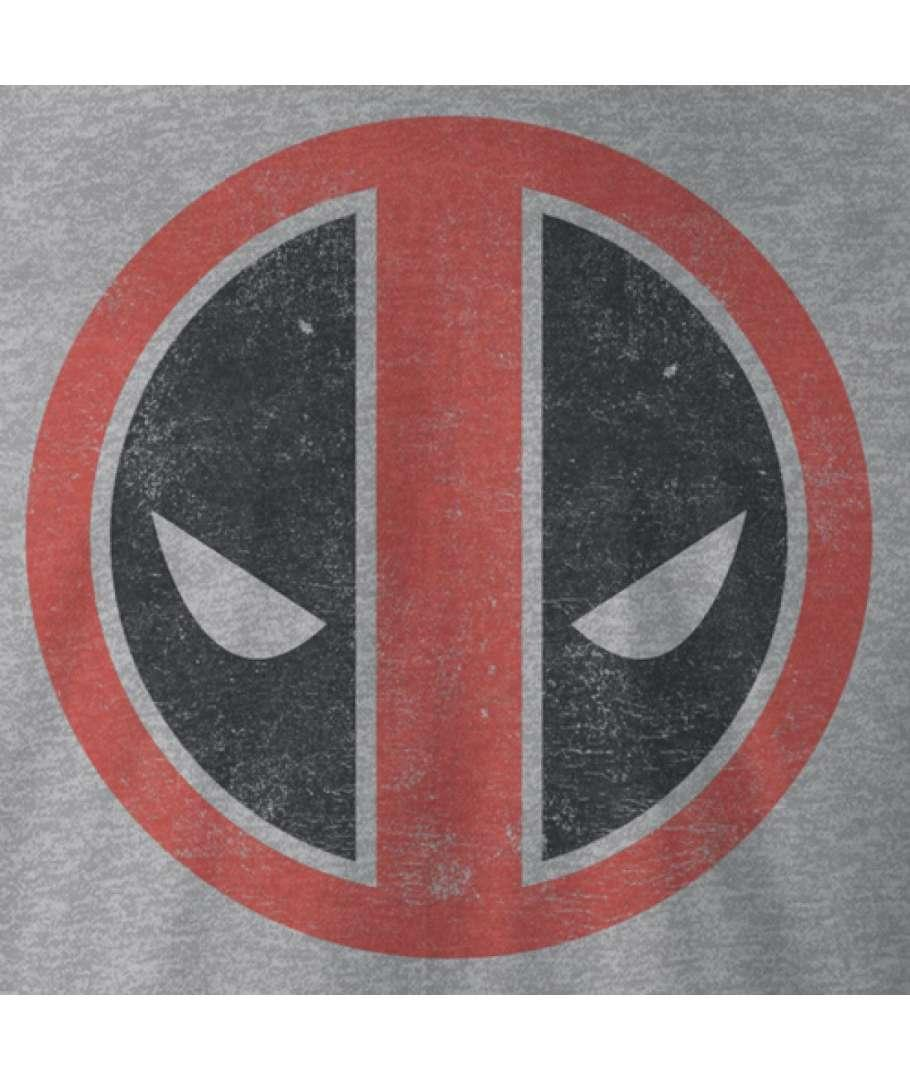 MARVEL - Deadpool - Sweat Distress Logo - Grey (S)_2